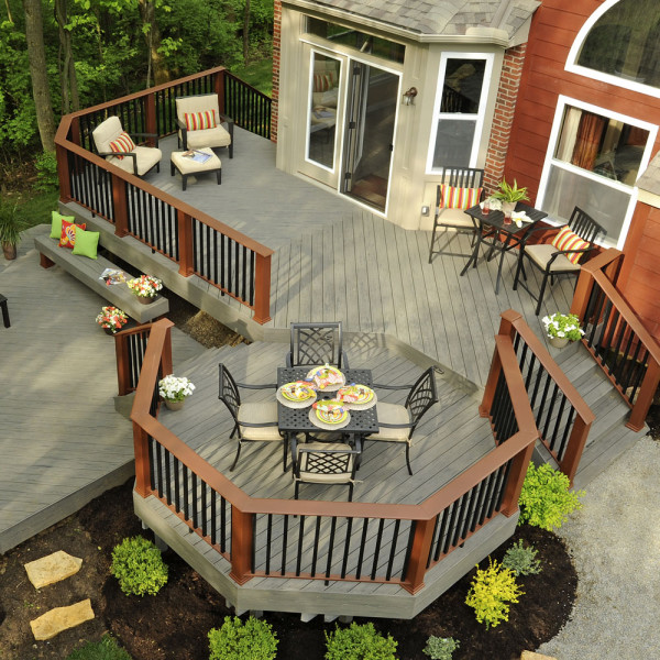 Custom deck designs geneva deck for Deck house designs